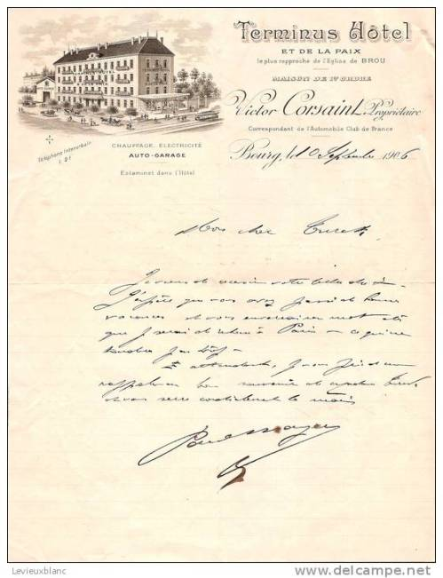 Corsaint lettre