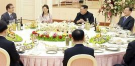 la festeno en Pyongyang