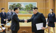 sudkorea delegacio en Pyongyang